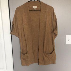 Loft oversized short sleeve open sweater. Small.